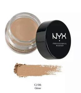 NYX Cosmetics Full Coverage Concealer Jar CJ06 Glow Sealed!