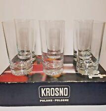 6 Vintage Krosno Highball Glasses - Sopot 6 Hi Ball Glasses - Includes OG Box!