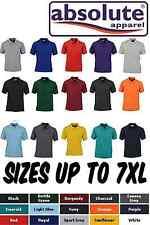 Quality Kingsize Mens Polo Shirt Plus Heavyweight 3XL 4XL 5XL 6XL 7XL 15 Colours