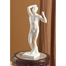 "Bronze Age Statue by Auguste Rodin Musee d'Orsay Replica Reproduction 19"" white"