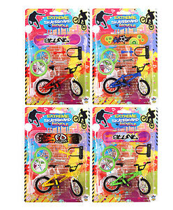 Fuctional Finger Bike BMX Bicycle And Skate Board Toy Fixie Creative Play  Tool