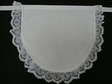 NEW GIRLS VICTORIAN MAID HALF APRON LUXURY LACE EDGED.