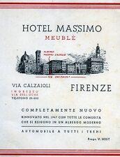 * FIRENZE : HOTEL MASSIMO MEUBLE' - Via CALZAIOLI - Tel. 22.032 *