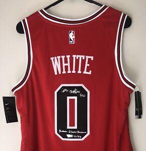 Coby White Signed Chicago Bulls Nike NBA Swingman Jersey LE #23/50 Auto FANATICS