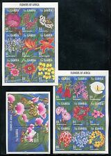 Gambia 1663-1664, MNH, Flowers 1995. x18592