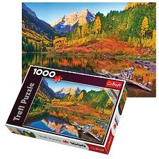 Trefl 1000 Piece Adult Large Maroon Lake Colorado Scenery Floor Jigsaw Puzzle