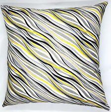 Handmade  Yellow, Black, White & Grey Home Decor Cushion Cover 45x45 or 50x50