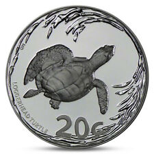 SOUTH AFRICA 20 CENT TURTLE TARTARUGA TORTOISE SILVER 2013 PROOF