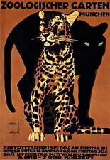 Art Poster Zoologischer Garten Munchen  Print