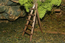 Wooden Ladder Miniature Nativity Village Presepio Pesebre Manger Scene Diorama