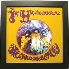 "JIMI HENDRIX PHOTO / FOTO MIT RAHMEN ""ARE YOU EXPERIENCED"" - 30x30cm - POSTER"