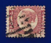 1876 SG49 ½d Rose Plate 14 G4 AI Misperf Good Used Cat £30 crhm