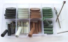 40pcs Dental Beauty Silicone Rubber Polishing Wheels Polisher+4pcs Mandrel Shank