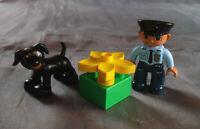 Lego Duplo Polizei Polizist Police 5678 mit Hund und Blumen Policeman