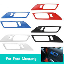 Inner Door Handle Panel Trim Decor Cover For Ford Mustang 2015-2017 Accessories