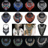 Fashion Women Crystal Choker Collar Chunky Vintage Long Statement Chain Necklace