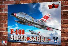 """Plaque métal déco 30x20cm F-100 Super Sabre US Air Force """" century series """""""