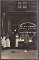 DAIRY PROD. STORE SOCIAL HISTORY DELI STORE ANTIQUE RPPC PHOTO POSTCARD