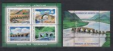 Architecture Azerbaijan 2007 MNH** Mi.701-705 Bl.77-78 Bridge Brücke