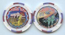 $1 SADDLE WEST POPULAR ALIEN CASINO CHIP PAHRUMP, NV. UNC! FREE SHIP & AIRTITE
