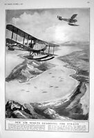 Old 1922 Seaplanes Air Scouts Dardanelles Fox Hunting Cannock Aldersh 20th