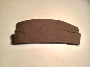 WW 2 AIF Australian Army Khaki Wool Forage Side Cap Hat 1940 Rising Sun Buttons