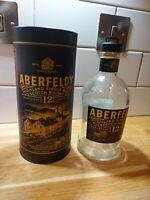 Aberfeldy Whisky 12 Years 1L Empty Bottle with tin / Case / box