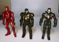 "Hasbro Marvel Iron Man,War Machine,Titanium Man Figures Loose 6"" Lot Of 3"