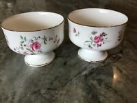 "Royal Victoria Fine Bone China Set of Two 3"" FOOTED SHERBET DISH, England"