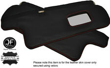 RED STITCHING 2X SUN VISORS LEATHER COVERS FITS TOYOTA COROLLA GT AE82