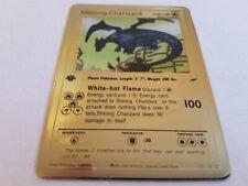 Pokémon Shining Charizard White Gold Metal Card 1st Edition Neo Destiny 107/105