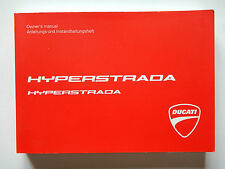 GENUINE 2014 DUCATI HYPERSTRADA OWNERS MANUAL BOOK 913.7.258.1A 2015