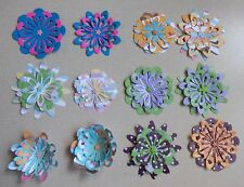 12 Handmade Layered Paper Flowers Scrapbook Layouts Card Making Home Decor