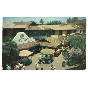 Disneyland Vintage Unused Postcard 1955 Adventureland Cantina Aerial View P12356
