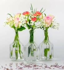 12 x kleine Vasen Halsi Glas mini Deko Dekoration Hochzeit Blumenvasen set Tisch