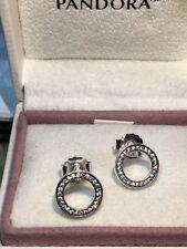 Pandora Forever Earrings 290585CZ  Sterling Silver 925