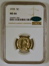 1935 Buffalo Nickel Coin from the Philadelphia Mint graded MS66 by NGC with CAC