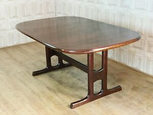 MID CENTURY Danish Rosewood Extending Dining Table - Faske 260cm! *£71 DELIVERY*