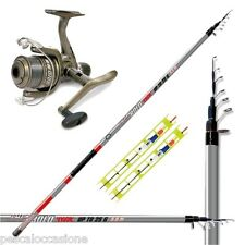 kit da pesca combo canna mulinello canna da pesca mare fiume lago montatura