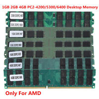 1/2/4GB DDR2 533 667 800Mhz PC2-4200/5300/6400 DIMM Desktop Memory RAM For AMD B