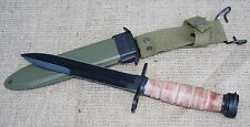 U.S. M4 BAYONET FOR THE  M1 CARBINE - REPRODUCTION WITH SCABBARD  ARMY USMC