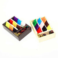 1:12 Miniature Sewing Kit Dollhouse Diy Doll House Decor Accessories FT