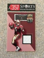 2002 FLAIR JERSEY HEIGHTS JEFF GARCIA GAME USED JERSEY FLEER SAN FRANCISCO 49ERS