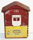 Vintage Gamewell Fire Alarm Call Emergency Pull Box Phone Telephone -Red &Yellow