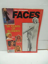 Real Life Presents Faces Magazine #39 Winter 1983 50 Years Of Blondes Monroe