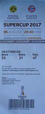 TICKET Supercup 5.8.2017 Borussia Dortmund - Bayern München # Westtribüne