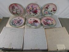 Set of 6 Bradford Exchange Lena Liu Symphony of Shimmering Beauty Plates