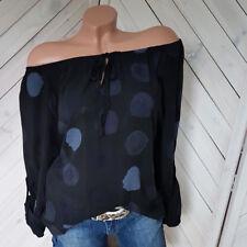 Tupfen Bluse in schwarz Tunika Carmen off Shoulder Gr. 36 38 40 onesize NEU H3