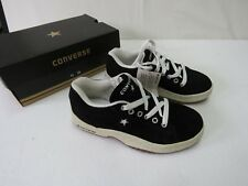 08 - CONVERSE BLACK BRUSHED LEATHER FLAT 1H 06 11 SHOES SIZE 7.5 NEW