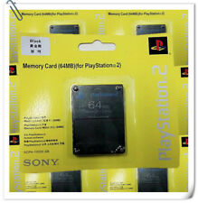 64MB PS2 MEMORY CARD SONY PLAYSTATION black compatible third party